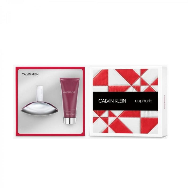 GIFT/SET EUPHORIA 2PCS.(3.4 EDP SPR+3. BY CALVIN KLEIN FOR WOMEN