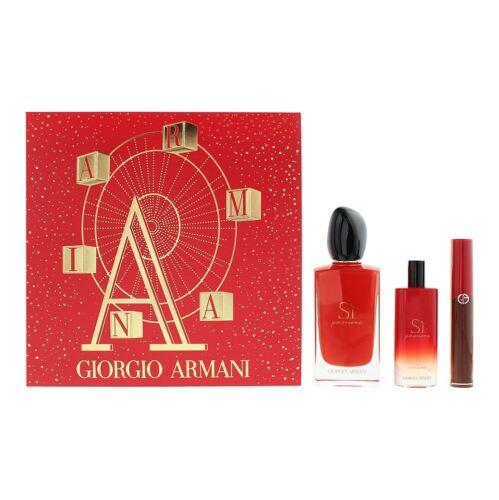 ARMANI SI PASSIONE 4 PCS. SET: By GIORGIO ARMANI For WOMEN