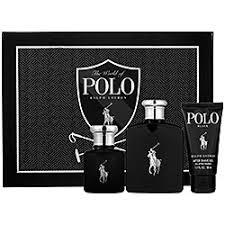 GIFT/SET POLO BLACK 3PCS. [4.2 FL By RALPH LAUREN For MEN