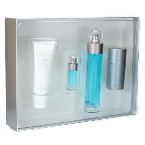 GIFT/SET 360 4 PCS.  3.4 FL By PERRY ELLIS For MEN