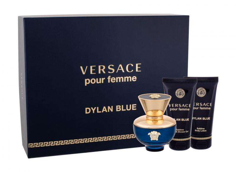 GIFT/SET DYLAN BLUE POUR FEMME 3 PCS. BY VERSACE: 1.