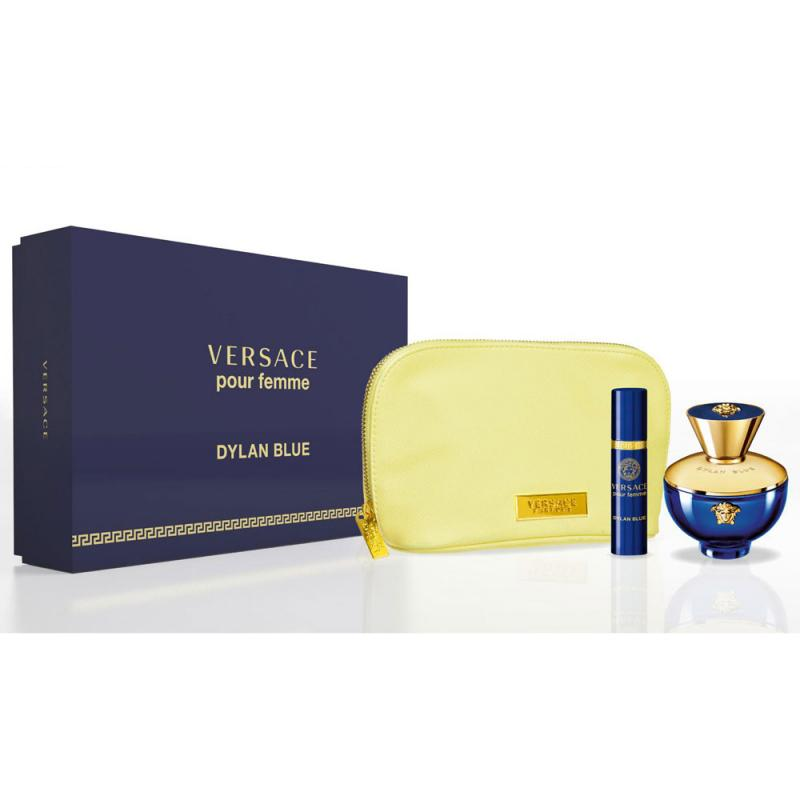 GIFT/SET DYLAN BLUE POUR FEMME 3 PCS. BY VERSACE: 3.4 FL BY VERSACE FOR WOMEN