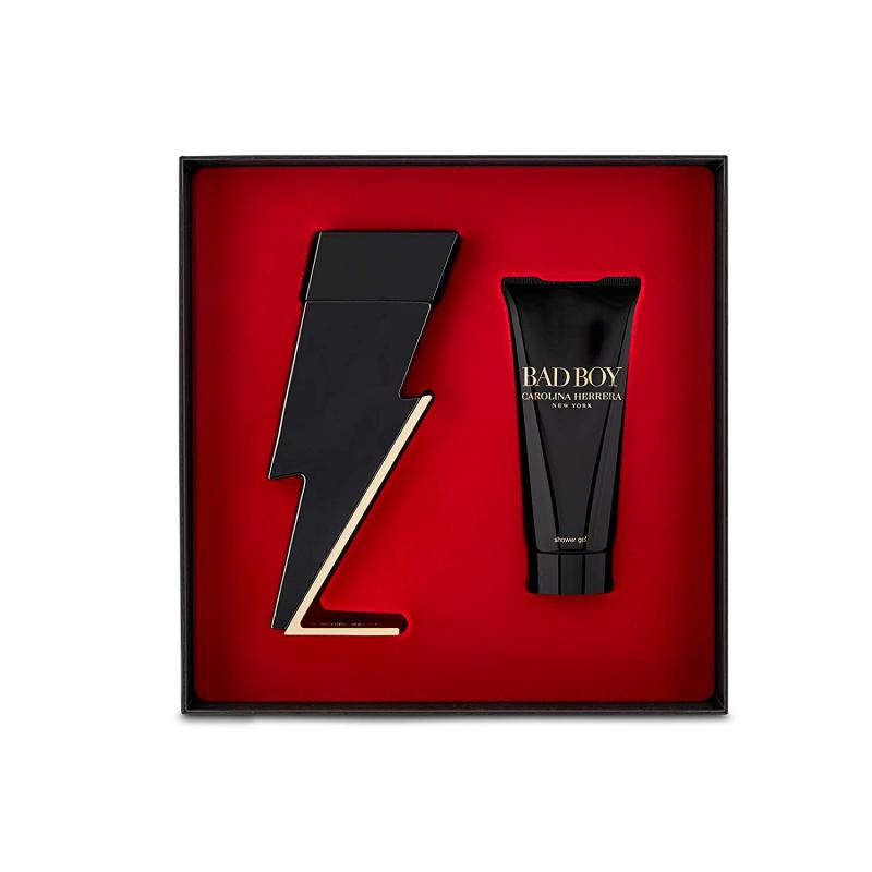 GIFT/SET CAROLINA HERRERA BAD BOY 2 PCS.  3.4 FL BY CAROLINA HERRERA FOR M