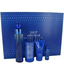 GIFT/SET 360 VERY BLUE BY PERRY ELLIS 4 PCS. 3.