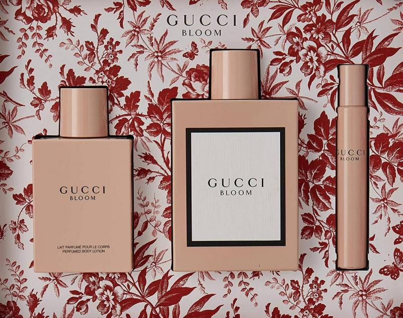 GIFT/SET GUCCI BLOOM 3 PCS  3.3 EDP + 3.3 BODY LOTION + .25 EDP R.BALL FOR WOMEN.  DESIGNER:GUCC By GUCCI For