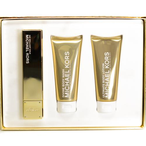 GIFT/SET 24K BRILLIANT GOLD 3 PCS.  3.4 FL By MICHAEL KORS For WOMEN