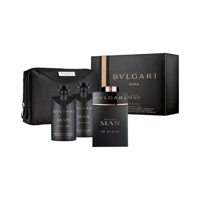 GIFT/SET BVLGARI MAN IN BLACK 4 PCS.  3. By BVLGARI For POUCH