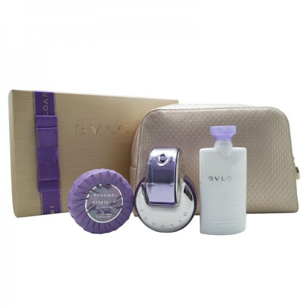 GIFT/SET BVLGARI OMNIA AMETHYSTE 4 PCS. INCLUDES 2.2 FL