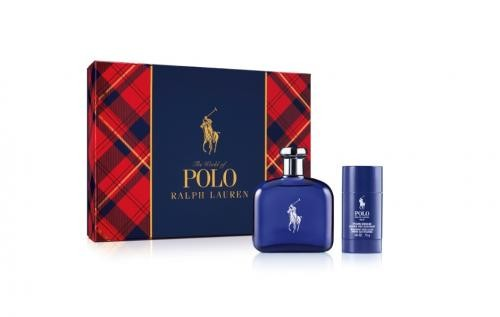 GIFT/SET POLO BLUE 2 PCS.  4.2 FL By RALPH LAUREN For MEN