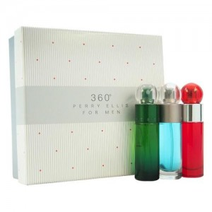 GIFT/SET 360 3 PCS.  '3X1.0)1. By PERRY ELLIS For MEN