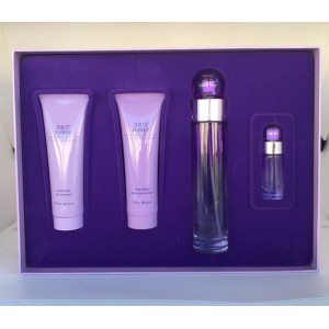 GIFT/SET 360 PURPLE BY PERRY ELLIS 4PCS.  3.4 FL By PERRY ELLIS For WOMEN