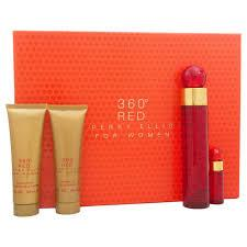 GIFT/SET 360 RED 4 PCS.  3.4 FL By PERRY ELLIS For WOMEN