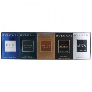 GIFT/SET BULVGARI 5 PCS.  0.17 FL By BVLGARI For MEN